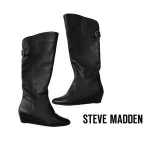 Steve Madden INCCA Knee High Leather Wedge Boot